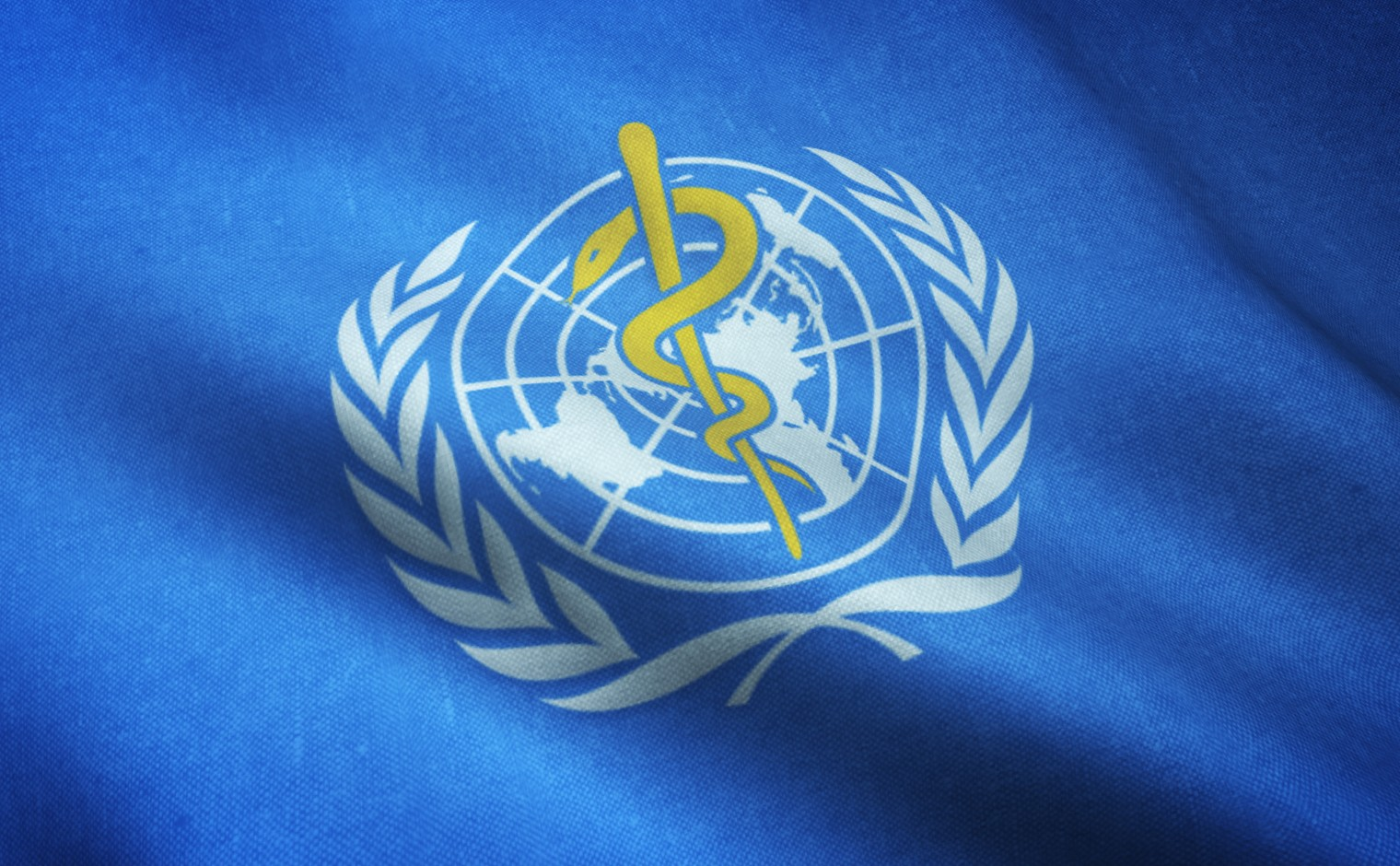 Vlag van de World Health Organization (WHO)